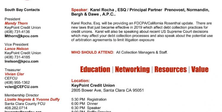 California Credit Union May Flyer
