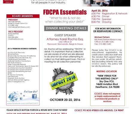 California Credit Union Oct 2016 flyer