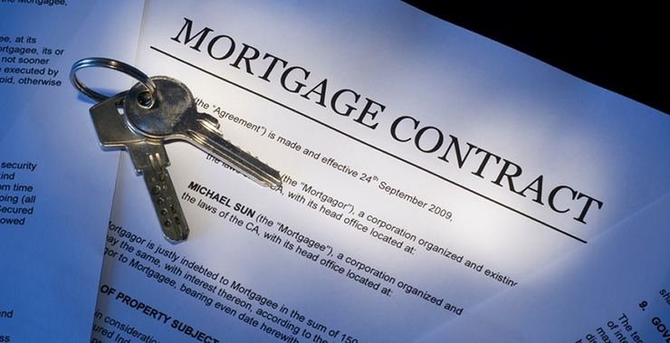 image of a mortgage contract